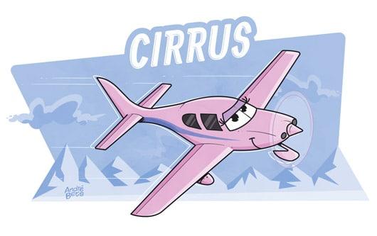avião Cirrus ilustração