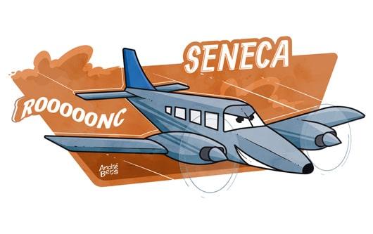 avião Seneca ilustração